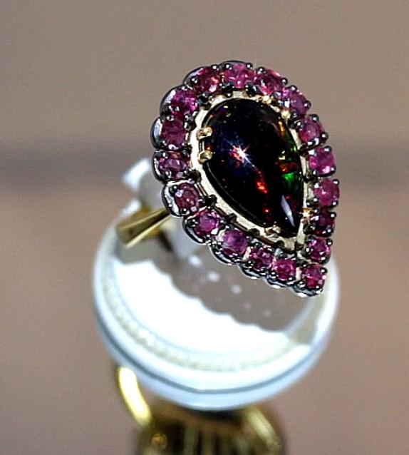 Δαχτυλίδι σε Ασήμι 925 με Οπάλιο   Ρουμπίνια (ΚΩΔ 9468) – Gempalace 7d7fc134222