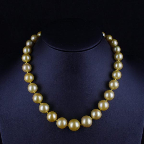 Κολιέ με 100% φυσικά Χρυσά Μαργαριτάρια South Sea (Νοτίων Θαλασσών) με άριστης ποιότητας λούστρα.