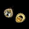 Σκουλαρίκια σε ασήμι 925 με κίτρινο επιχρύσωμα στα 14Κ με Ακουαμαρίνες 4.00 ct από Minas Zerais την Βραζιλία (ΚΩΔ 6161Α)