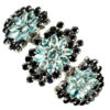 Βραχιόλι σε ασήμι 925 με λευκό πλατίνωμα στα 14Κ και φυσικά γαλάζια Ζιρκόνια στα 62.00 ct και deep blue Ζαφείρια Βραζιλίας στα 49.20 ct (ΚΩΔ 9830Α)