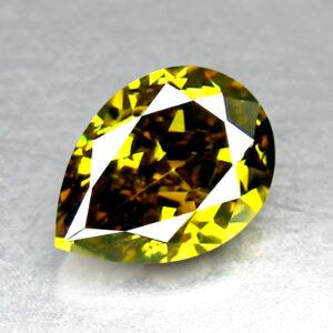Διαμάντι fancy green σε κοπή σταγόνας στα 0.46ct από την Αφρική (ΚΩΔ 5975B)