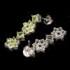 Σκουλαρίκια σε ασήμι 925 με λευκό επιχρύσωμα στα 14Κ με τριάντα δύο Περίδοτα στα 8.40 ct από το Πακιστάν (ΚΩΔ 6653Β)